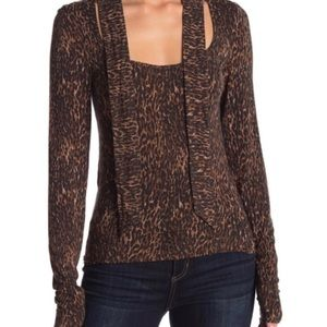 Free People Wild Thing Leopard Body Con Top